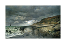La Pointe de la Heve at Low Tide by Claude Monet