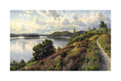 A View of Borresö from Himmelbjerget by Peder Mork Monsted