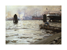 Hamburg Harbour by Anders Zorn