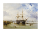 H.M.S. Agamemnon, of Greenwich (laid the first Atlantic Telegraph cable in 1858) by George Chambers