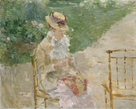 Young Woman Knitting by Berthe Morisot