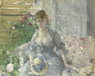 Young Woman Seated on a Sofa by Berthe Morisot