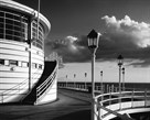 The Pier Worthing B&W by Jo Crowther