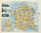 Map of France by The Vintage Collection