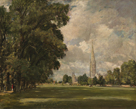 Salisbury Cathedral from Lower Marsh Close, 1820 by John Constable