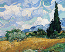 Wheat Field with Cypresses, July 1889 by Vincent Van Gogh