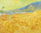 Wheatfield with a Reaper by Vincent Van Gogh