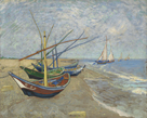 Fishing Boats on the Beach at Les Saintes-Maris-de-la-Mer by Vincent Van Gogh