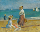 Figures on the Beach, 1890 by Pierre Auguste Renoir
