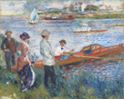 Oarsman at Chatou,1879 by Pierre Auguste Renoir