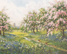 Apple Blossom and Bluebells by John Halford Ross