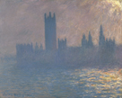Houses of Parliament, Sunlight Effect by Claude Monet