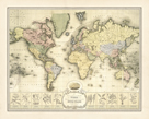 World Spice Trade Map by The Vintage Collection