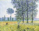 Fields in the Spring, 1887 by Claude Monet