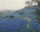 Bluebonnet Field, Early Morning, San Antonio Texas by Julian Onderdonk