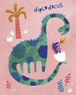 Diplodocus Duo by Archie Stone