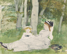 At the Edge of the Forest (Edma and Jeanne) by Berthe Morisot