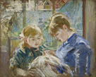 The Artist's Daugher, Julie, with her Nanny by Berthe Morisot