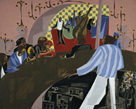 Cafe Comedian by Jacob Lawrence