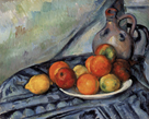 Fruit and a Jug on a Table, c.1890-94 by Paul Cezanne