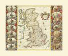 British Isles, 1645 by Joan Blaeu