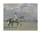 The Racehorse 'Belfonds' with H. Semblat up at Chantilly by Sir Alfred Munnings