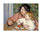 Child with Toys - Gabrielle and the Artist's Son, Jean by Pierre Auguste Renoir