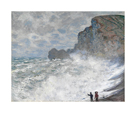 Rough Weather at Etretat by Claude Monet