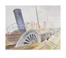 Paddle Steamers, Bristol Quay by Eric Ravilious