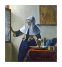 Young Woman with a Water Pitcher by Jan Vermeer