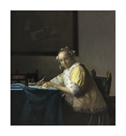 A Lady Writing, c. 1665 by Jan Vermeer