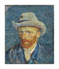 Self-Portrait with Grey Felt Hat by Vincent Van Gogh