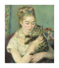 Woman with a Cat, c1875 by Pierre Auguste Renoir