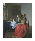 The girl with a wineglass by Jan Vermeer