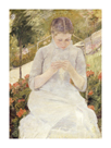 Girl in the Garden, c.1880-1882 by Mary Stevenson Cassatt
