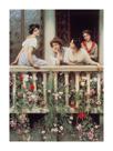 The Balcony I by Eugene de Blaas