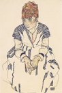 Portrait of the Artist's Sister, Adele Harms by Egon Schiele