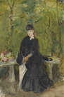 The Artist's Sister Edma Seated in a Park by Berthe Morisot
