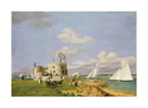 Yachts Racing off Calshot Castle, Southampton Water by 19th Century English School