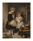 Children With Rabbit by Edwin Landseer