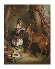Young Girl And Fawn by Edwin Landseer