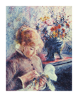 Girl and Petit Point by Pierre Auguste Renoir