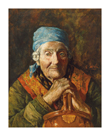 An Old Woman (Study) by Girolamo Nerli