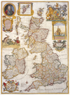 Map of Great Britain and Ireland, c1730 by George Willdey