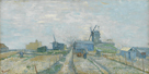 Montmartre - Windmills and Allotments by Vincent Van Gogh