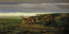 Deer on the Prairie, 1884 by William Holbrook Beard