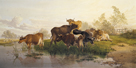 Cows in the Water Meadows by Thomas Cooper