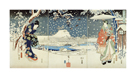 Snow Scene In The Garden Of A Daimyo by Andro Hiroshige