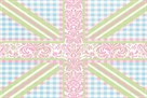 Union Jack, Blue, Green and Pink by Sasha Blake
