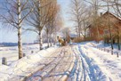 Winter Scene by Peder Mork Monsted